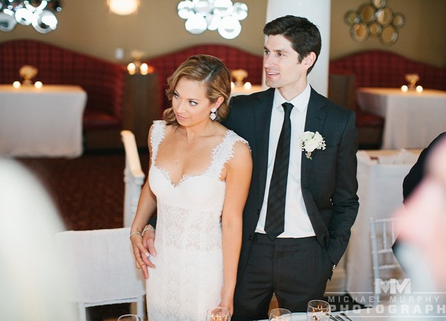 Ben Aaron (right) and Ginger Zee (left) after their wedding in June 2014.