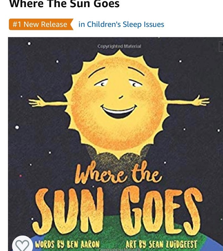 Snapshot of the 'Where the Sun Goes' book cover written by Ben Aaron.