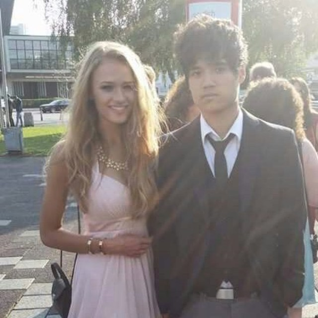 Julia Gisella and her boyfriend of 6 six years Marius Leqi.