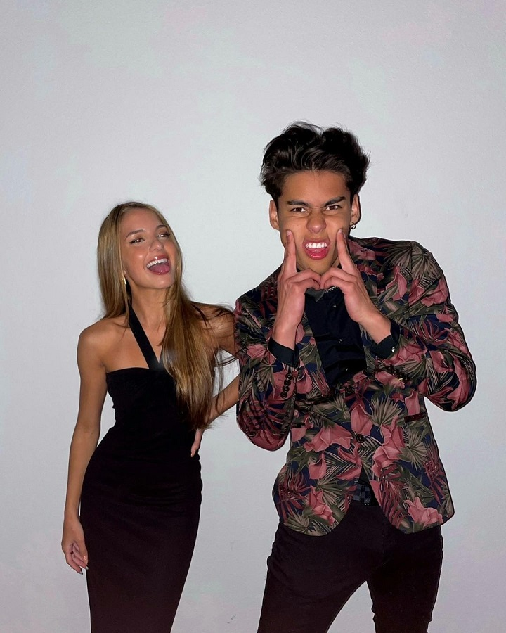Lexi Rivera (left) and Andrew Davila (right) with silly poses.